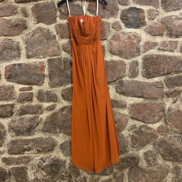 orange bridesmaid dresses,